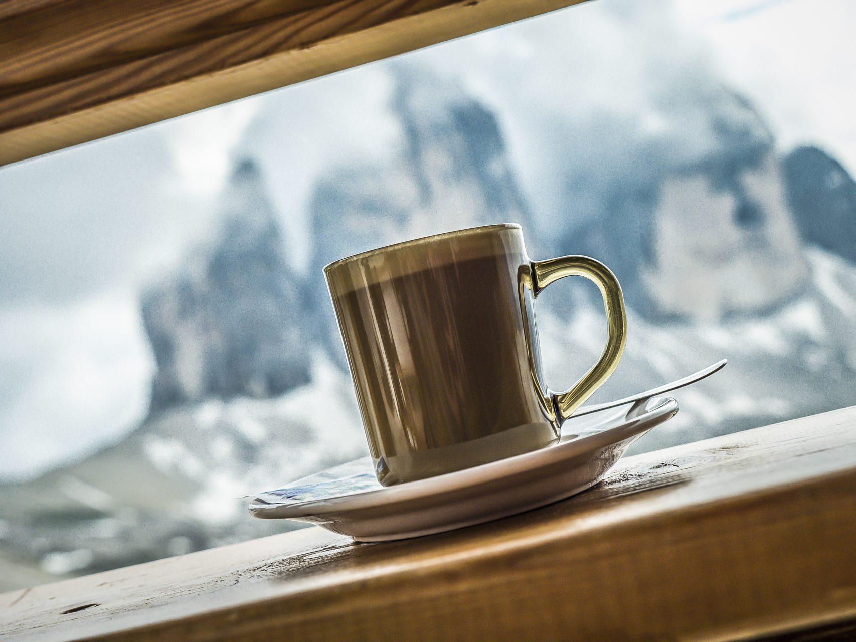 Kaffee an der Drei-Zinnen-Hütte