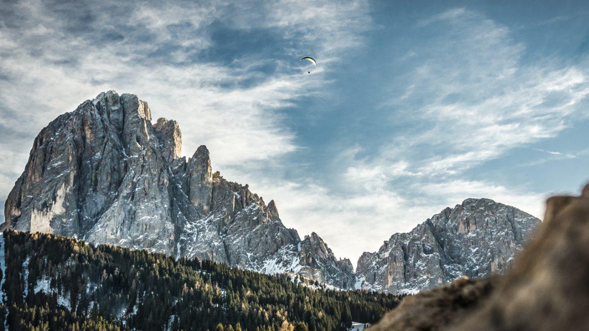 Dolomiten – Paragliding im Winter