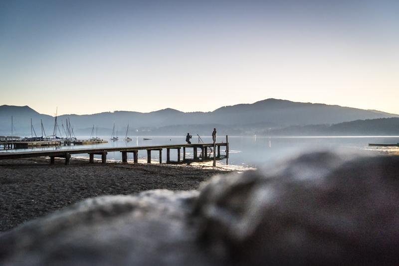 Seeufer bei Gmund am Abend * Lakeshore near Gmund at dawn