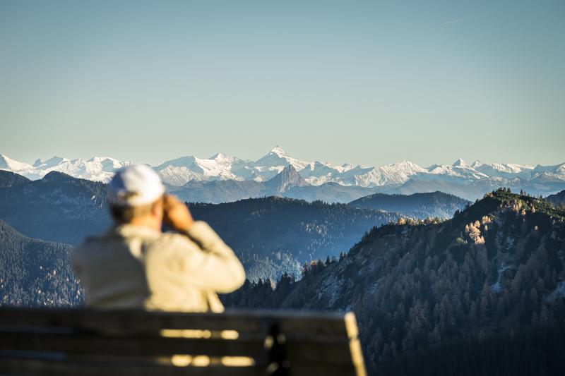 Großglockner vom Wallberg aus gesehen * Mount Großglockner, Austria's highest peak, viewed from Mount Wallberg