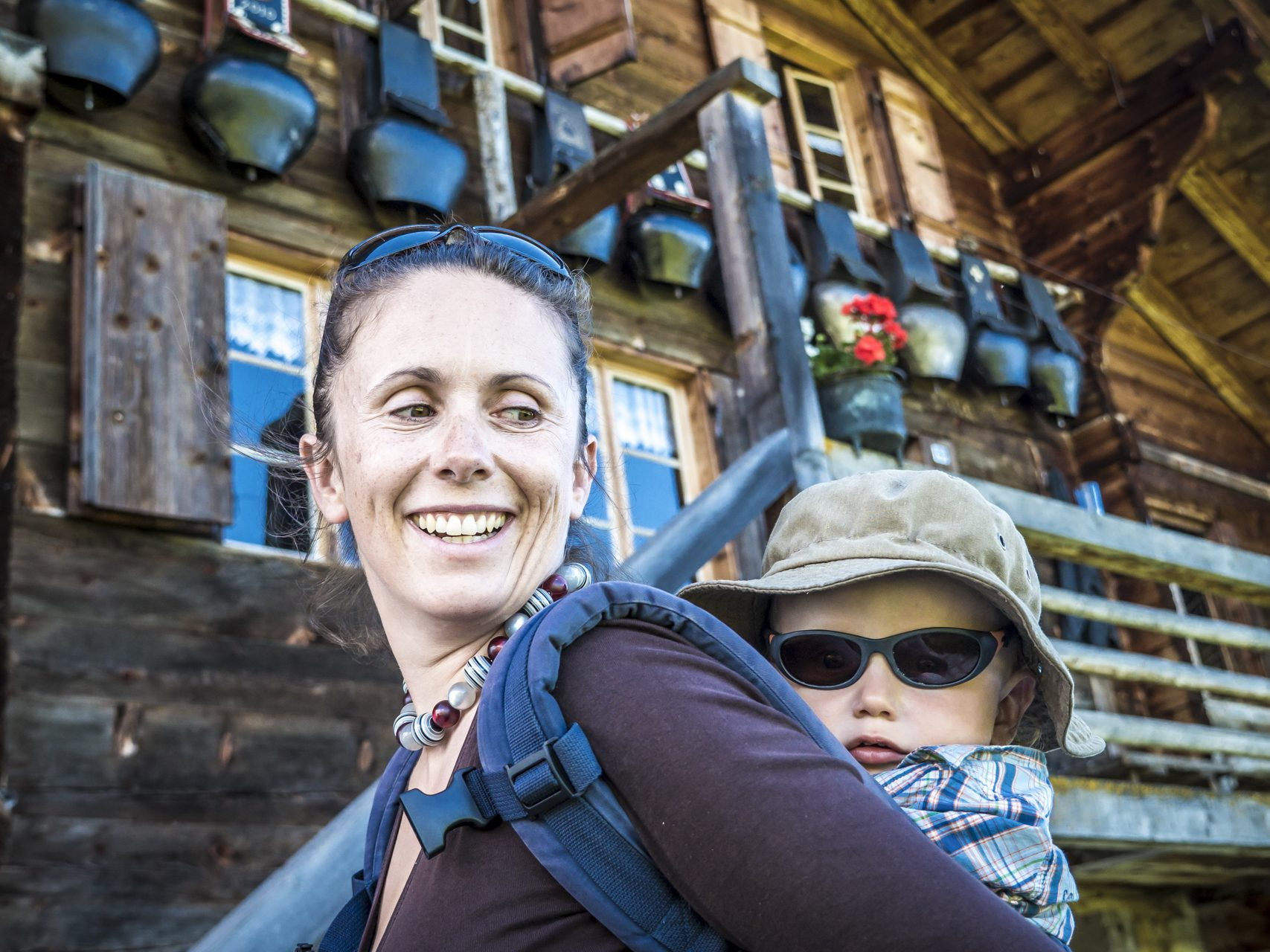 Besucher auf der Alp