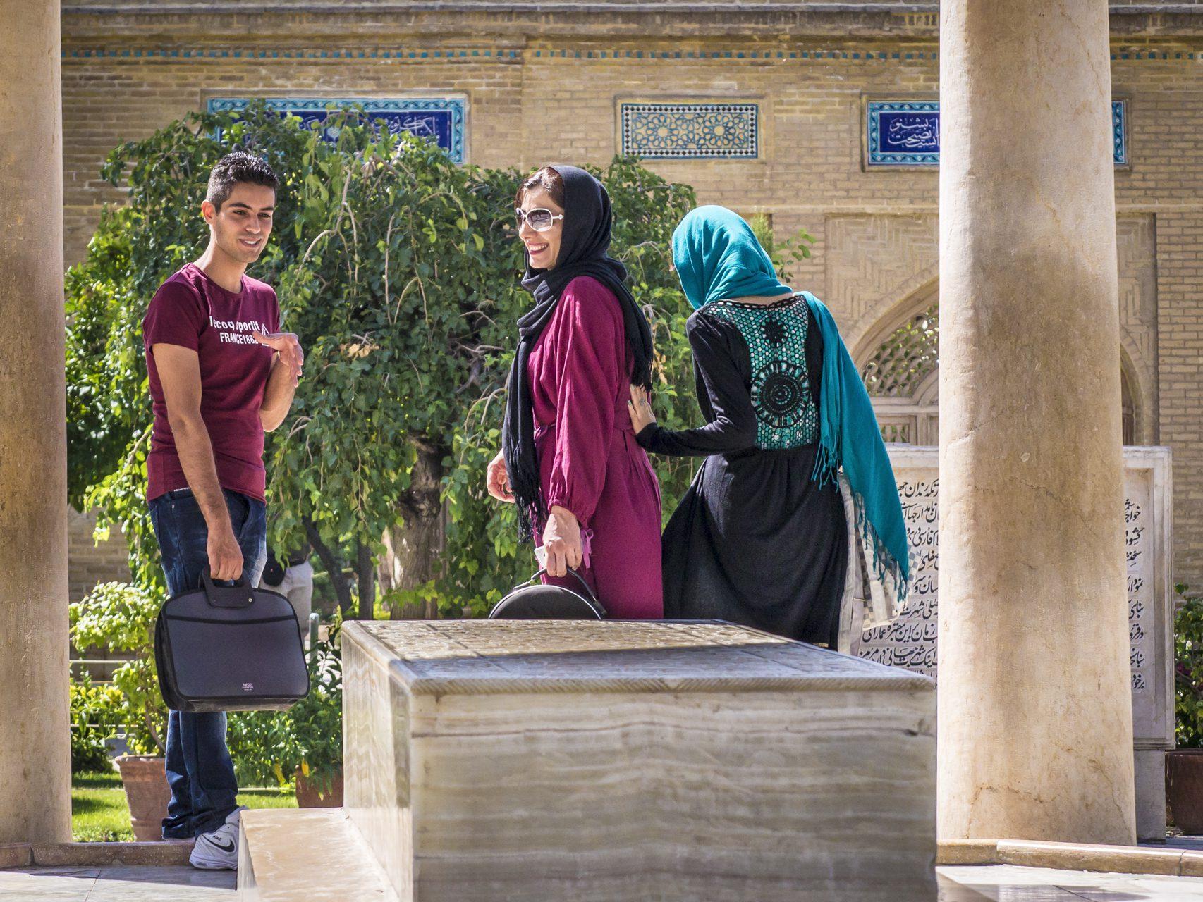Iran, Schiras, Mausoleum des Dichters Hafis, Asien, 16.07.2014