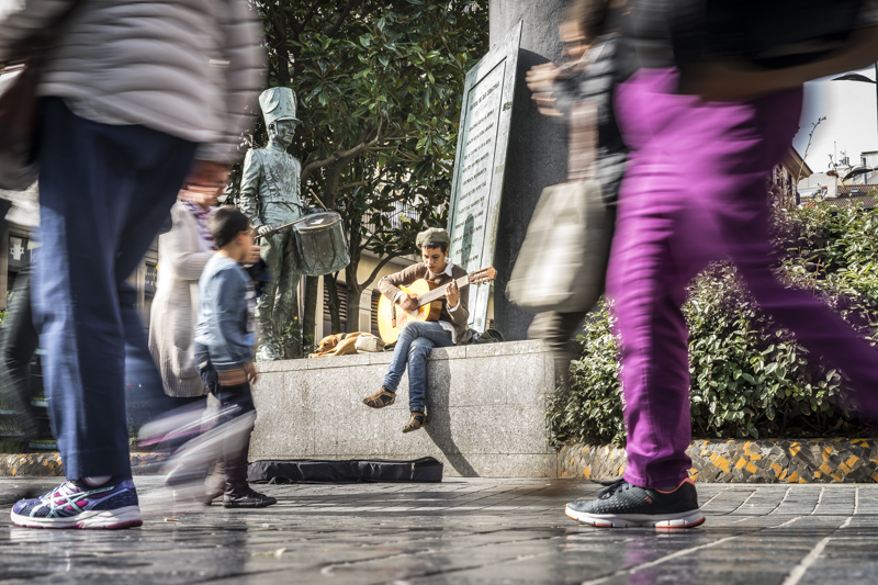 Straßenmusiker in der Altstadt